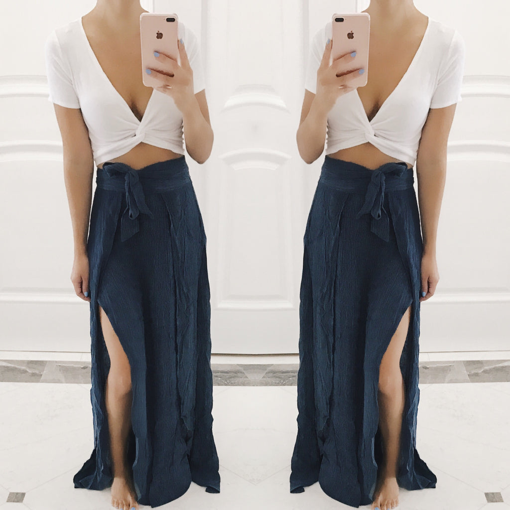 Tessa Wrap Maxi Skirt