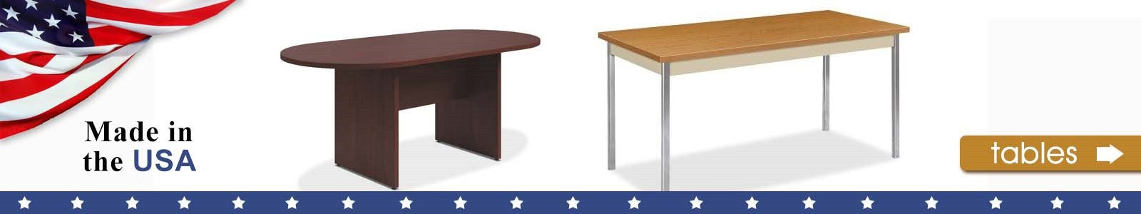 HON Table Options Made in the USA