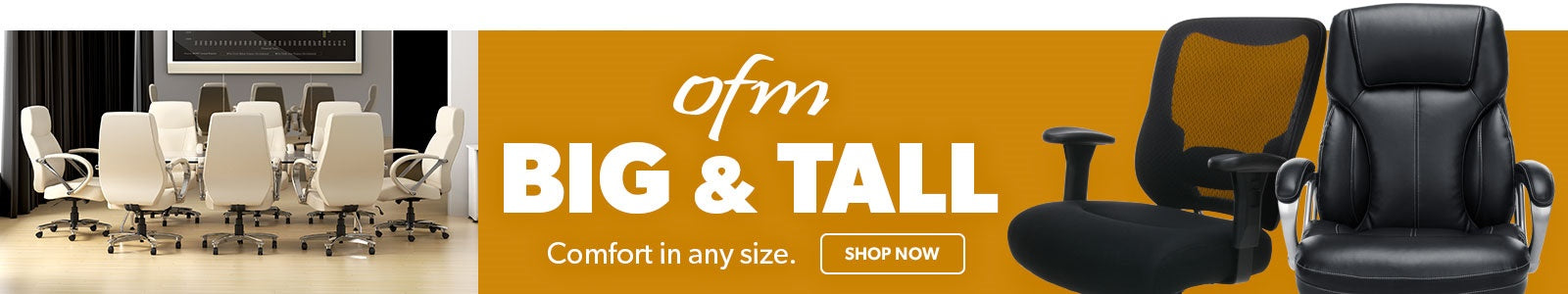 OFM Big and Tall Chair Collection Banner