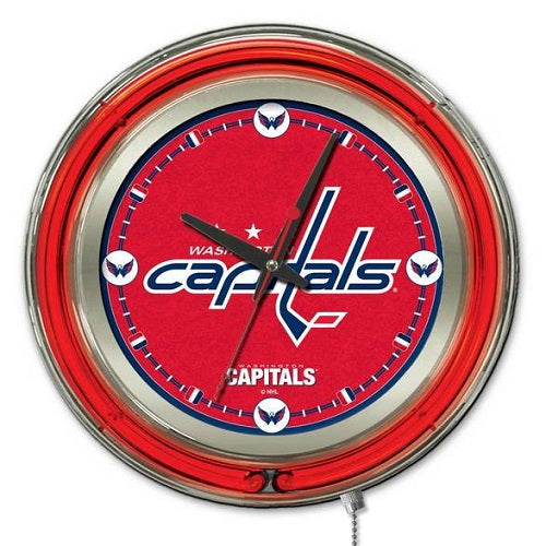 NHL Logo 15 inch Neon Clocks by Holland Barstool