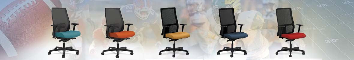 Tailgating At The Office - Up your game with sleek office chairs in your team's colors!