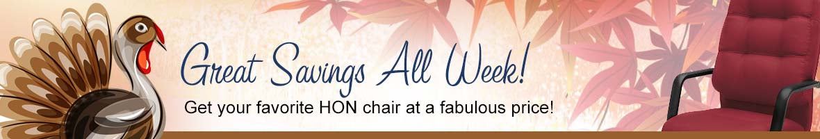 Great savings all week on select HON task chairs!
