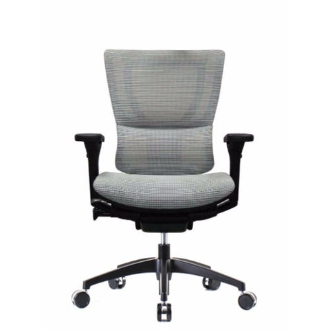 iOO Eurotech Ergonomic Office Chair in Bright White Mesh and Black Frame