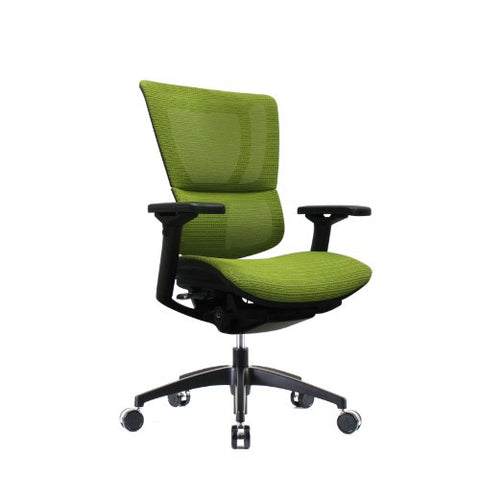 iOO Eurotech Ergonomic Office Chair in Bright Green Mesh and Black Frame