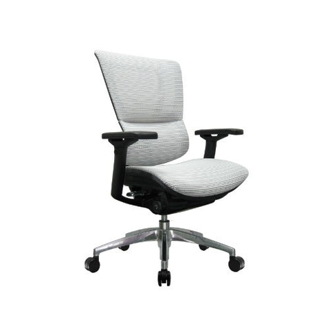 Eurotech Ergonomic Mesh Office Chair in Bright White with Black Frame