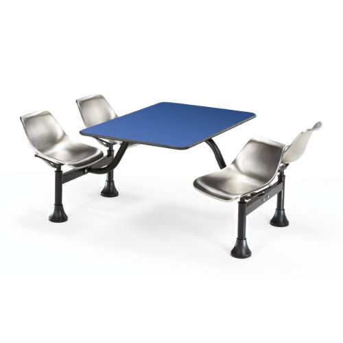 "OFM Cluster Table with Laminate Top and Stainless Steel Chairs - 24"" x 48"" ; UPC: 845123010488"