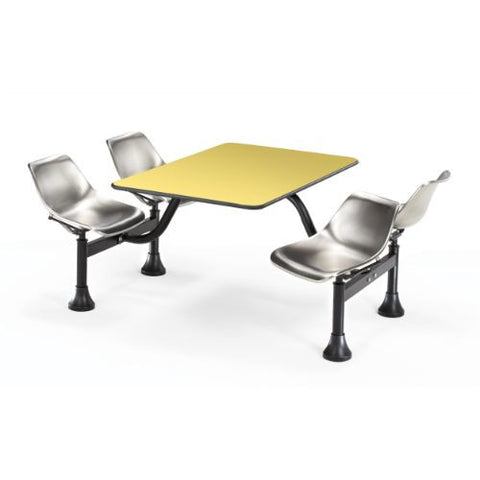 "OFM Cluster Table with Laminate Top and Stainless Steel Chairs - 24"" x 48"" ; UPC: 845123010525"