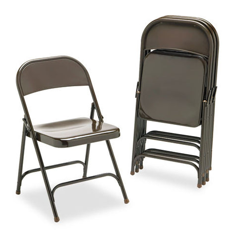 Virco Metal Folding Chairs VIR16213M, Brown (UPC:046231001706)