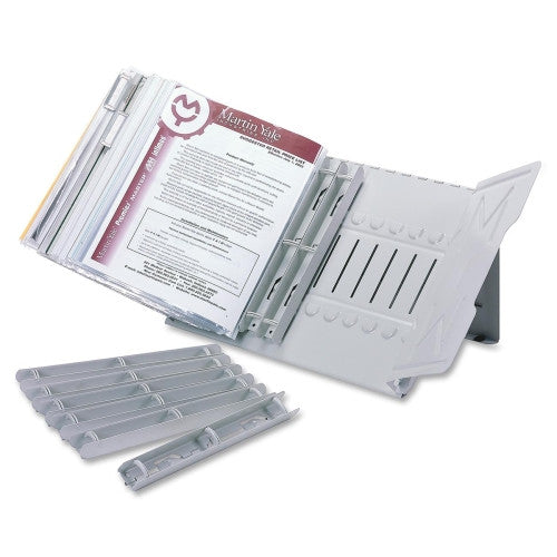 Martin Yale Products Catalog Stand Starter Set MAT912RS3G, Gray (UPC:015086203603)