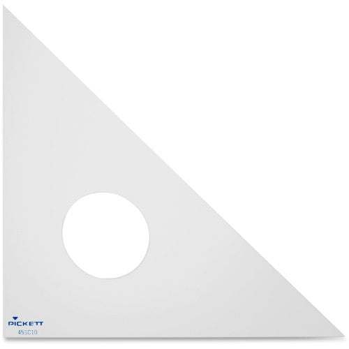 "Chartpak Acrylic 10"" Triangle ; (014173156501); Color:Clear"