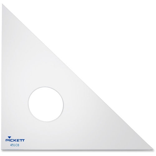 "Chartpak Acrylic 8"" Triangle ; (014173156570); Color:Clear"