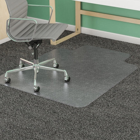Deflecto SuperMat Medium Weight Chair Mat DEFCM14433F, Clear (UPC:079916062204)