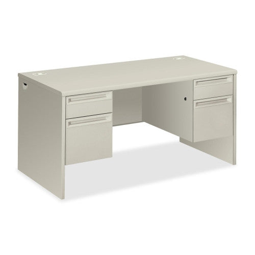 HON 38000 Series Double Pedestal Desk HON38155QQ, Gray (UPC:631530672438)