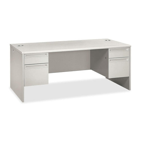 HON 38000 Series Double Pedestal Desk HON38180QQ, Gray (UPC:631530672407)
