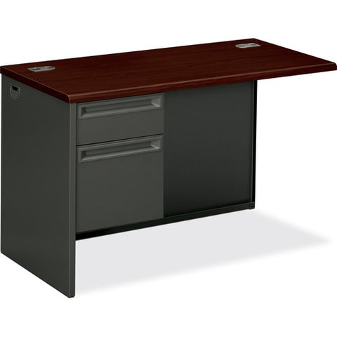"HON 38000 Series Left Return | 1 Box / 1 File Drawer | 48""W x 24""D x 29-1/2""H 