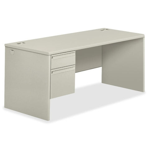 HON 38000 Series Right Pedestal Desk HON38291RQQ, Gray (UPC:089192161898)