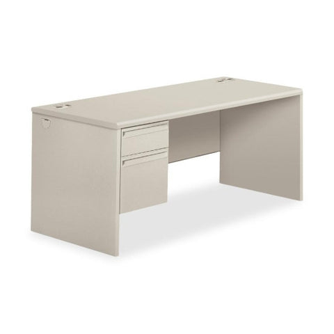 HON 38000 Series Left Pedestal Desk HON38292LQQ, Gray (UPC:089192161966)
