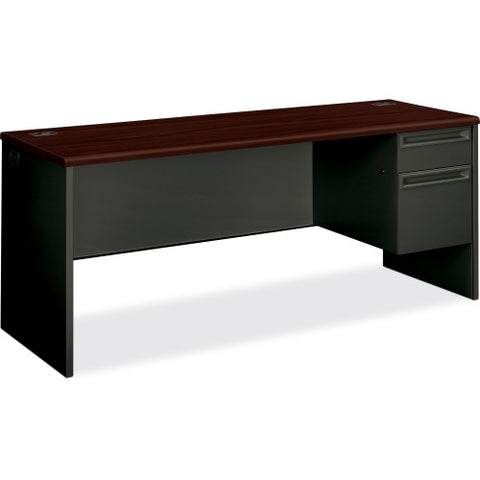 HON 38000 Series Right Pedestal Credenza ; Color: Mahogany/Charcoal; UPC: 089192673612