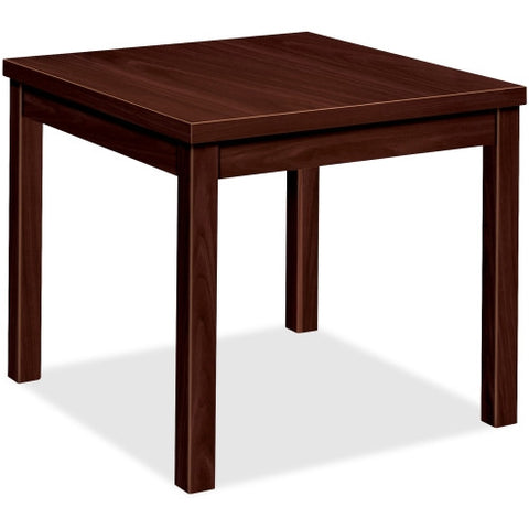 HON Laminate End Table HON80193NN, Mahogany (UPC:089191169307)