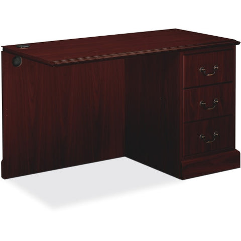 HON 94000 Series Right Pedestal Return HON94215RNN, Mahogany (UPC:089192690640)