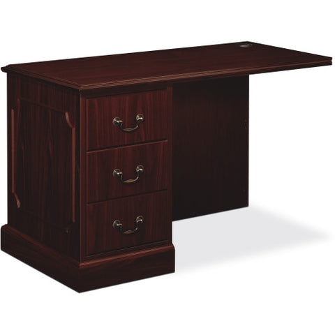 HON 94000 Series Left Pedestal Return HON94216LNN, Mahogany (UPC:089192690633)