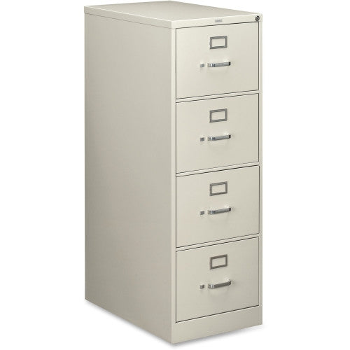 HON 210 Series Locking Vertical Filing Cabinet HON214CPQ, Gray (UPC:089192110186)