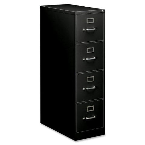 HON 210 Series Locking Vertical Filing Cabinet HON214PP, Black (UPC:089192035465)