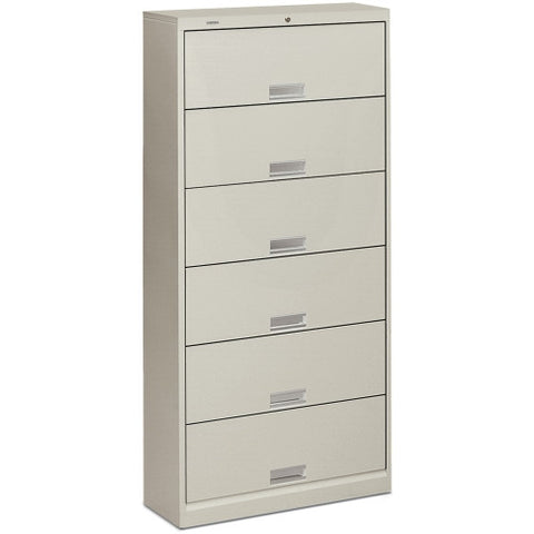 HON 600 Series Shelf File Cabinet HON626LQ, Gray (UPC:089192194322)
