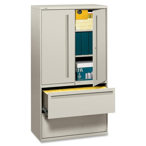 HON 700 Series Lateral File With Storage Case HON785LSQ, Gray (UPC:020459107457)