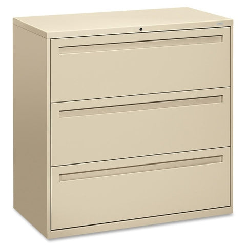 HON 700 Series Full-Pull Locking Lateral File HON793LL, Putty (UPC:089192884285)