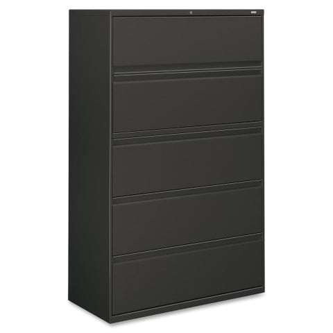 HON 800 Series Full-Pull Lateral File HON895LS, Black (UPC:089192853861)