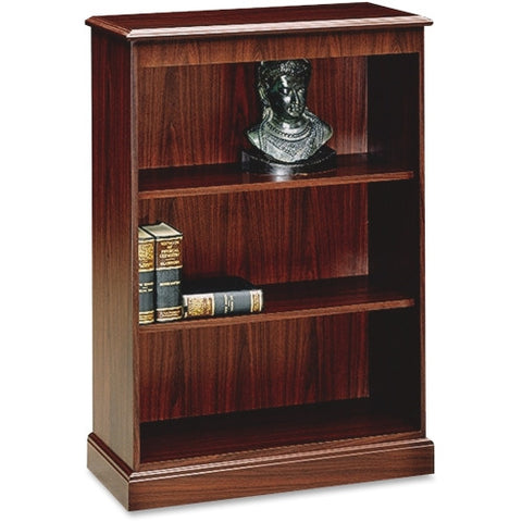 HON 94000 Series 3-Shelf Bookcase HON94222NN, Mahogany (UPC:089192518623)