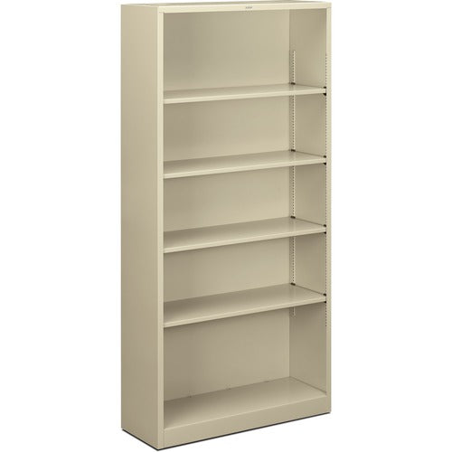 HON Metal Bookcase HONS72ABCL, Putty (UPC:641128720595)