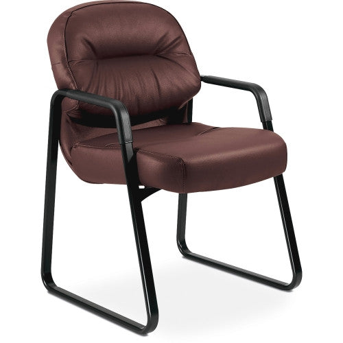 HON Pillow-Soft 2093 Executive Sled Based Guest Chair HON2093SR69T, Burgundy (UPC:089192045693)