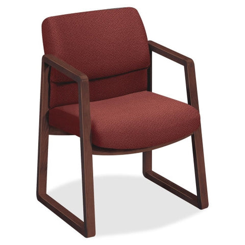 HON 2403 Sled Base Guest Arm Chair HON2403NAB62, Burgundy (UPC:745123392075)