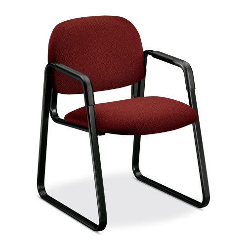 HON Solutions Seating 4008 Ergonomic Sled-Base Guest Chair HON4008AB62T, Burgundy (UPC:745123864459)