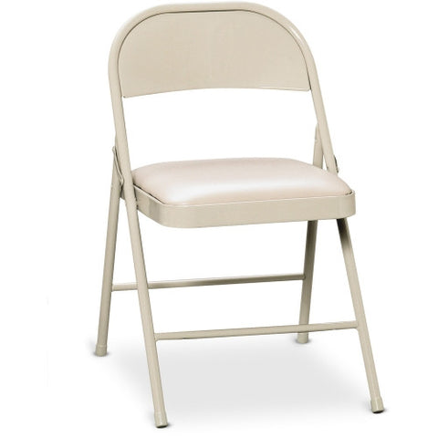 HON HFC02 Steel Folding Chair HONFC02LBG, Beige (UPC:089191881520)