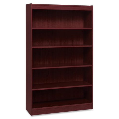 Lorell Panel End Hardwood Veneer Bookcase ; UPC: 035255600736