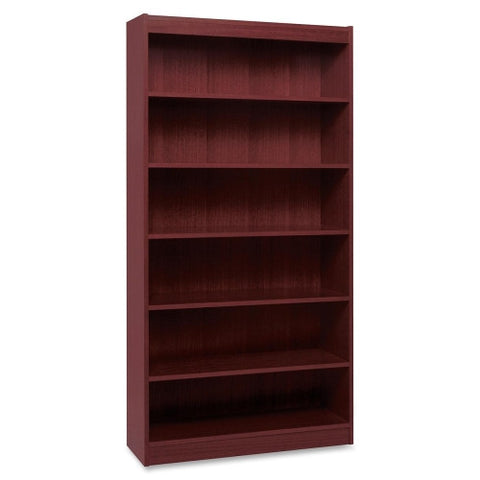 Lorell Panel End Hardwood Veneer Bookcase ; UPC: 035255600743