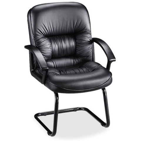 Lorell Tufted Leather Executive Guest Chair ; UPC: 035255601146