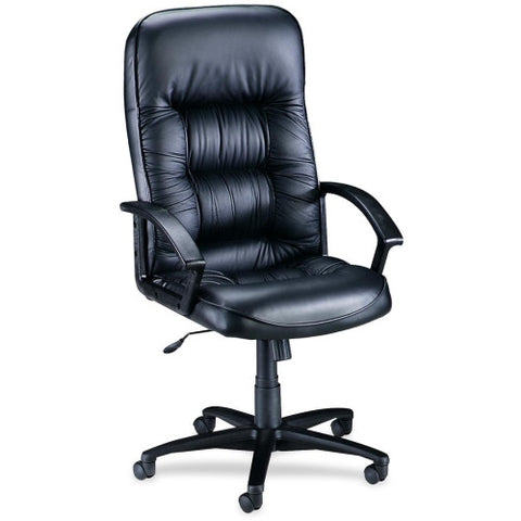 Lorell Tufted Leather Executive High-Back Chair ; UPC: 035255601160
