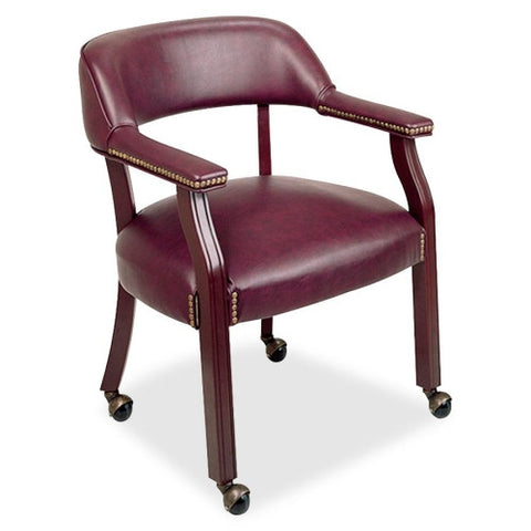 Lorell Traditional Captain Side Chair With Casters ; UPC: 035255606011