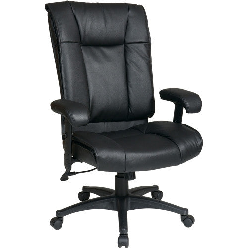 Office Star EX9382 Executive High Back Leather Chair OSPEX93823, Black (UPC:090234049319)