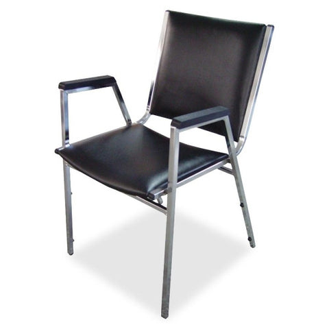 Lorell Plastic Arm Stacking Chair ; UPC: 035255625043