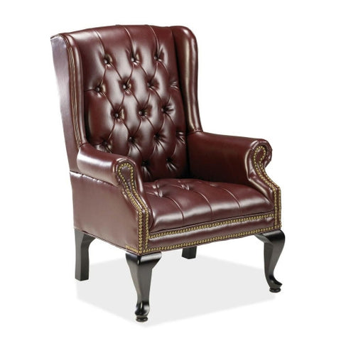Lorell 777 QA Queen Anne Wing-Back Reception Chair ; UPC: 035255606059