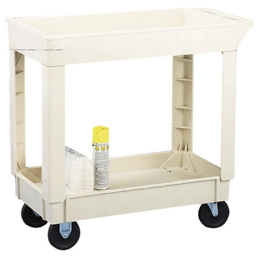 Continental Two Shelf Utility Cart CMC5800BE, Beige (UPC:020027057122)