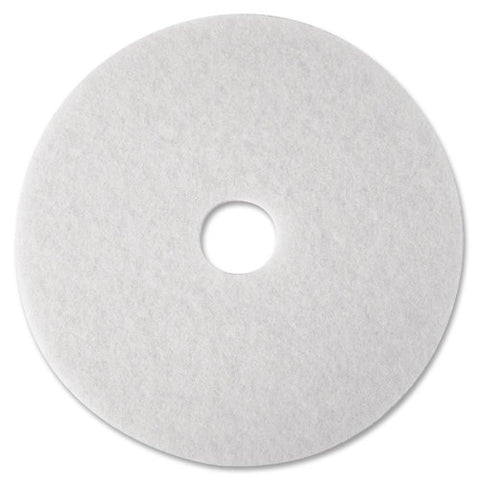 3M White Polish Floor Pad 4100 ; (048011084800); Color:White