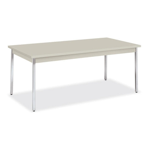 HON High-pressure Laminate Utility Table HONUTM3672QQCHR, Gray (UPC:020459213776)