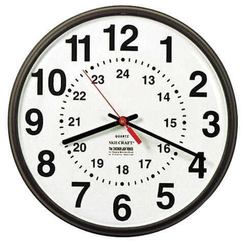 SKILCRAFT 12/24 Hour Wall Clock ; (830951000169)