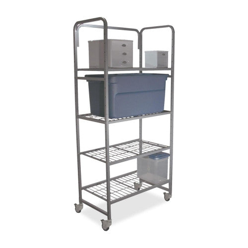 Buddy Mobile Shelving BDY54183, Silver (UPC:025719541835)